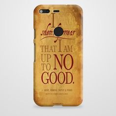 Harry Potter Quote - I Solemnly Swear That I Am Up To No Good Black Google Pixel Case | casefantasy
