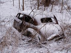 where an old car went to die
