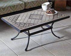 Tavoli Da Giardino Con Mosaico.Tavolo Da Giardino Ovale Con Mosaico In Ferro Battuto Cm 150x90x75