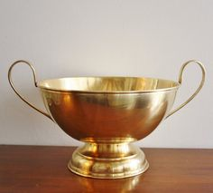 Vintage large brass footed Paul Revere bowl by highstreetmarket, $48.00