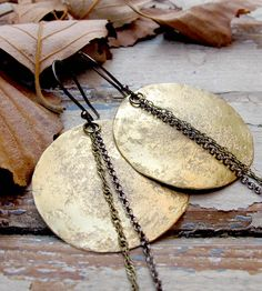 Full Moon Brass Earrings by Tangleweeds on Scoutmob Shoppe