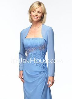 Mother of the Bride Dresses - $137.29 - Sheath Strapless Floor-Length Chiffon  Charmeuse Mother of the Bride Dresses With Embroidered  Ruffle (008006421) http://jenjenhouse.com/Sheath-Strapless-Floor-length-Chiffon--Charmeuse-Mother-Of-The-Bride-Dresses-With-Embroidered--Ruffle-008006421-g6421