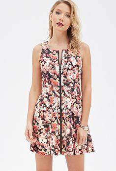 Rose Print Scuba Knit Dress