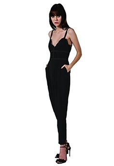 053535606a9 Keepsake Interlude Lace Jumpsuit in Black Extra Small -- BEST VALUE BUY on  Amazon