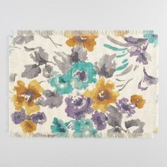 One of my favorite discoveries at WorldMarket.com: Gretchen Floral Jute Placemats Set of 4