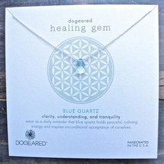 "dogeared ""Lasting Healing Gems"" blue quartz necklace - shophearts"