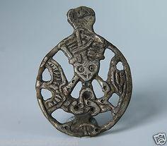 VIKING Period SILVER GOD LOKI AMULET Scandinavian, Norse Pendant  900-1000 AD