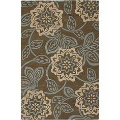 Hand-Tufted Floral Mandara Wool Rug