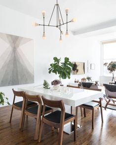 Spending all day reconfiguring 80s love ballads to be about this dining room/loft-in-the-distance. If you need us, please actually choose to need someone else, as this type of delicate, intricate creative process SHANT BE DISTURBED. #shh #goodbye4now // Design by @jturek of #HomepolishNYC + photo by @claireesparros.