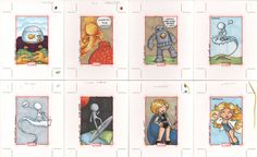 marvel 70th anniversary cards5  by ~katiecookie