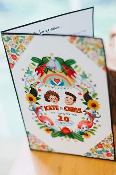 Wedding stationery for a Colourful and Kitsch, Mexican Inspired Wedding. Photography by Lorna Lovecraft