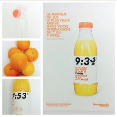 #LeJusLePlusFrais : de bonnes oranges pressées minute pour une fraîcheur légendaire ! #Intermarché #Fruits #Jus