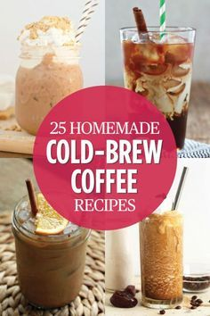 Cold Brew Coffee Recipes - Delicious Coffee Recipes You've Got to Try - Plain old hot coffee is boring. Jumpstart your morning with a refreshing kick of iced coffee instead. Head over to for the complete recipe round-up. Ninja Coffee Bar Recipes, Coffee Drink Recipes, Cold Coffee Drinks, Cold Brewed Coffee, Cold Coffee Recipe, Tea Drinks, Blended Coffee Recipes, Espresso Recipes, Drink Coffee