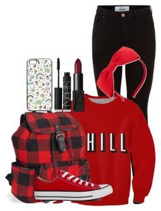 """""""Untitled #179"""" by misshappy123 ❤ liked on Polyvore featuring Aéropostale, Converse, Kate Spade and NARS Cosmetics"""
