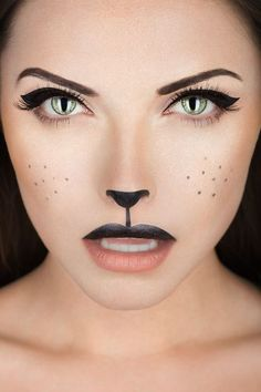 How-To: Black Cat Makeup Halloween How-To: Black Cat Makeup Perfect for Wizard of Oz, Cowardly Lion! Halloween How-To: Black Cat Makeup Perfect for Wizard of Oz, Cowardly Lion! Cute Halloween Costumes, Halloween Makeup Looks, Easy Halloween, Halloween Photos, Pretty Halloween, Fairy Costumes, Fox Halloween, Halloween Party, Halloween Painting