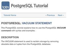 Minimize the size of your PostgreSQL database with the VACUUM command