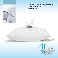 Sıvı geçirmez yastık alezi www.mucizeevim.com adresinde en uygun fiyatlarla...
