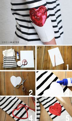 Style Stories | DIY Sequin Heart Elbow Patches
