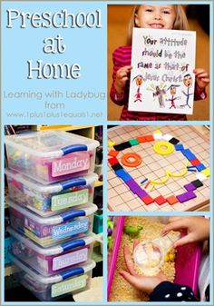 Home Preschool from @{1plus1plus1} Carisa {All By Myself Boxes, Spielgaben, Integrity Time and more}