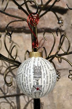 Harry Potter Book Ornament by CutieZCreations on Etsy