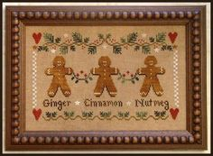 Gingerbread Trio - Cross Stitch Pattern by Little House Needleworks, http://www.amazon.com/dp/B00370015E/ref=cm_sw_r_pi_dp_jELxqb11J25Q7
