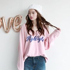 Buy 'NIPONJJUYA – V-Neck Lettering Cotton Sweatshirt ' with Free International Shipping at YesStyle.com. Browse and shop for thousands of Asian fashion items from South Korea and more!