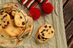 Bardzo łatwe ciasteczka z żurawiną