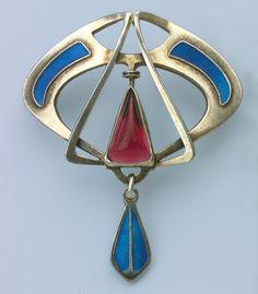 between art nouveau and art deco Enamel Jewelry, Antique Jewelry, Vintage Jewelry, Vintage Brooches, Gold Jewellery, Silver Jewelry, Bijoux Art Nouveau, Art Nouveau Jewelry, Jewelry Crafts