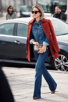 Charlotte doubling her denim fabulousy in Paris. #TheFashionGuitar