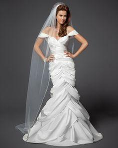 Off Shoulder Tulip Trumpet Wedding Dress- Rami Kashou (front)
