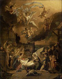 De aanbidding der herders, Abraham Daniëlsz. Hondius, 1663