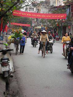 The streets of Hanoi, Vietnam
