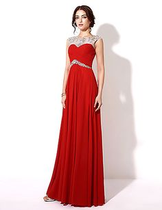 Formal Evening Dress - Ruby Plus Sizes / Petite A-line Bateau Floor-length Chiffon 2016 – $89.99