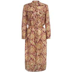 Zimmermann Essence Utility Shirt Dress ($570) ❤ liked on Polyvore featuring dresses, zimmermann, silk dress, paisley print dress, paisley pattern dress and paisley dress