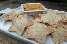 Star Shaped Homemade Tortilla Chips Recipe