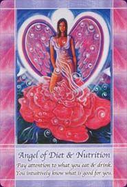 Angel of Diet and Nutrition - Ange de la Diète et de la Nutrition Card ~~~ Images from the Angel Voices Oracle