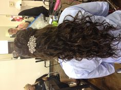 Half up half down prom hair