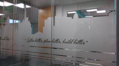 Window Graphics, Frosted Glass, Innovation, Windows, How To Plan, Simple, Wall, Projects, Signs