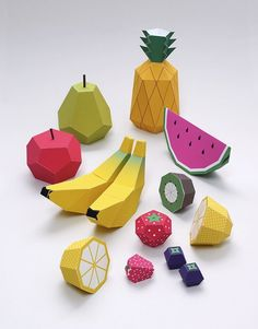 Paper Crafts: Free Foldable Fruit Printables — Mr Printables