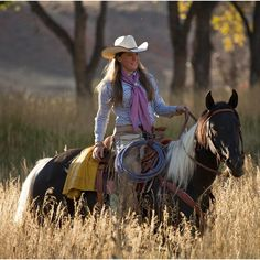 ♥ Cowgirls ♥ Riding...