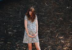 Maternity Dress  Safari Print Dress  Midi Length Dress  by OffOn