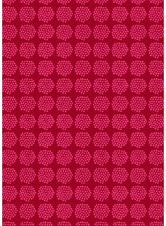 Marimekko fabric, Puketti red/pink by Annika Rimala, 145x50cm