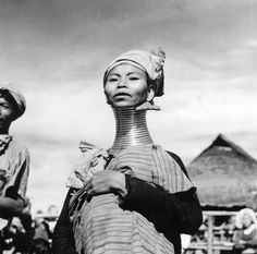 vintage everyday: Kayan People – Amazing Vintage Portraits of Padaung Women in the 1950s