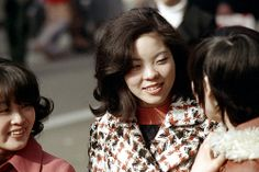Young women in the city, Tokyo, Japan, 1972, photograph by Nick DeWolf.