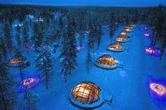 Overnacht in het unieke Igloo Village Kakslauttanen in Fins Lapland.