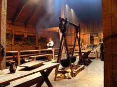 Panoramio - Photo of (i) Lofotr - Vikings museum in Borg... supper's ready! Cooking tradditional meals in the main hall of chieftains house