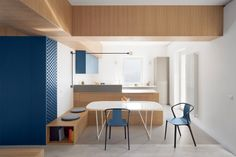 Genoa. Gosplan rearranges an apartment with a cross-shaped furniture - Domus