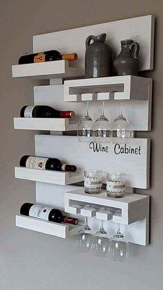 Wall Shelf Ideas (Shelves for Every Room) - 27 Exclusive Wall Shelf Ideas - Mini Bars, Diy Home Bar, Bars For Home, Mini Bar At Home, Home Bar Designs, Home Design, 3d Design, Design Ideas, Tv Unit Design