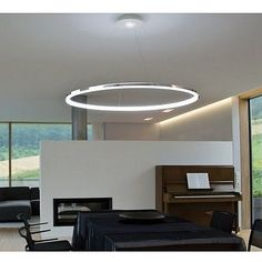 Luxury Modern LED Ring Style Large Chandelier Ceiling Pendant Lighting Fixture