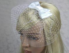 Short White Bird Cage Veil Cage Veil Russian Lace Birdcage AU$45.00